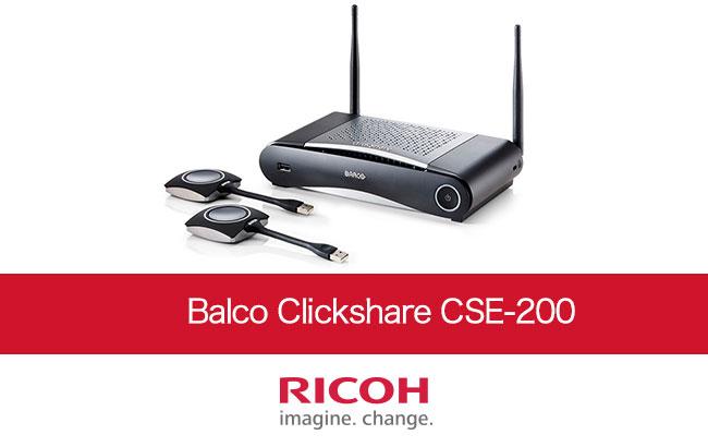 PC画面をワイヤレスで投影「Balco Clickshare CSE-200」